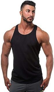 Camiseta sin mangas para hombre, gimnasio, muscular, espalda en Y, para culturismo, entrenamiento, fitness, sin mangas,