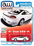 1992 Dodge Stealth R/T Twin Turbo White with Black Top Modern Muscle Ltd Ed 12040 pcs 1/64 Diecast Model Car by Autoworld 64302-AWSP063 A