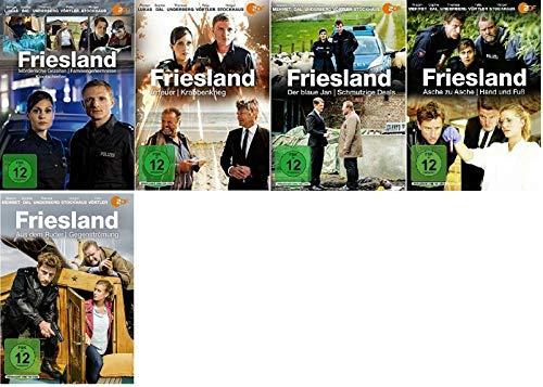 Friesland 11 Filme Paket u.a. Aus dem Ruder, Asche zu Asche, Mörderische Gezeiten [DVD Set]
