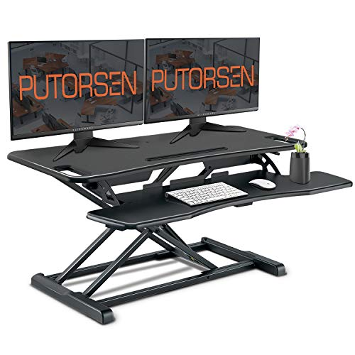 PUTORSEN® Standing Desk Height Adjustable Sit Stand Desk...