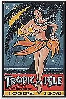 ダンサーレトロポスターポスター装飾絵画キャンバス壁アートリビングルームポスター寝室絵画16x24インチ(40x60cm)フレームレス-16x24インチ(40x60cm)_Unframe-style1