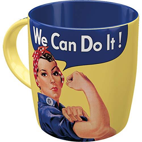 Nostalgic-Art Retro Kaffee-Becher - USA - We can do it, Große Retro Tasse, Vintage Geschenk-Idee für starke Persönlichkeiten, 330 ml