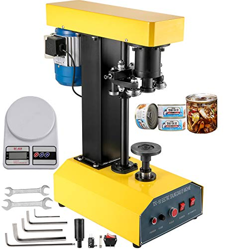 BestEquip Automatic Can Seamer 65mm Diameter, Tin Can Sealer Machine 25-200mm Applicable Can Height, Electric Can Sealer 370W, Beer Can Seamer for Various Kinds of Iron Plastic Cans