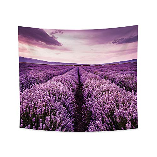 YongFoto 39.4x34.3 Inches Lavender Tapestry Beautiful Scenery Landscape Tapestry Purple Lavender Field Wall Hanging Tapestry for Bedroom Living Room Decor