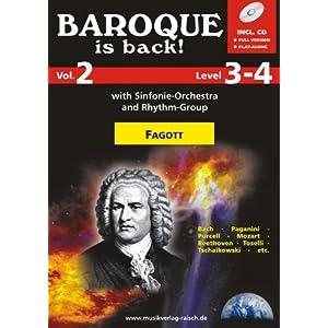 Baroque is back Vol.2 für Fagott (play-along / Notenheft mit Begleit-CD)