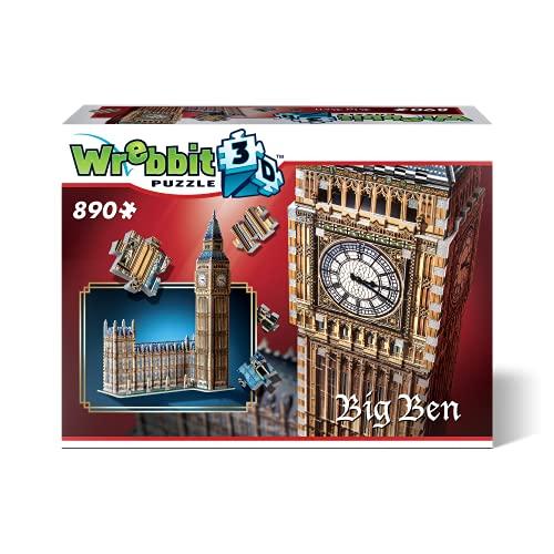 Wrebbit 3D Harry Potter Big Ben & House of Parliament-Queen Elisabeth Tower 3D-Puzzle, W3D-2002