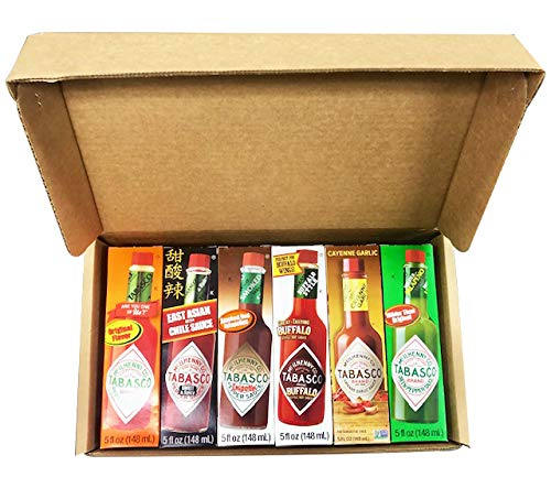 RiverFinn Tabasco Hot Sauce 6 Flavor Variety Gift Pack, Full Size 5 Oz. Bottles in Custom Gift Box, Original, Buffalo… 9