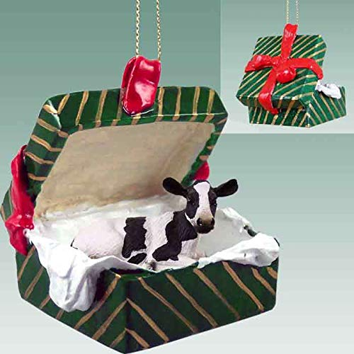 Holstein Cow Gift Box Christmas Ornament - DELIGHTFUL!