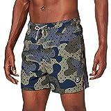 Jack & Jones JJIMAUI JJSWIMSHORTS ST Camo Print Pantalones Cortos, Verde Oliva, XL para Hombre