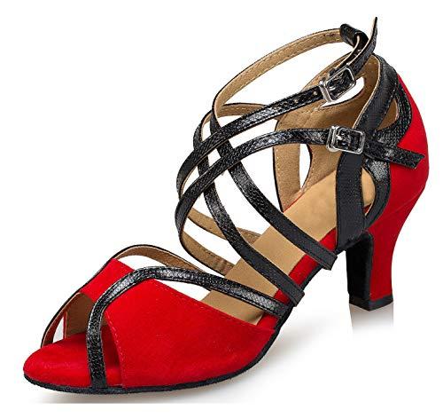 Minitoo ,  Damen Jazz, modern , Rot - Red-6cm Heel - Größe: 40