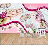 Wffmx Papel Tapiz De Murales De Pared 3D Para Sala De Estar Beauty Body Nail Manicure Nail Natural Spa Decoración Para El Hogar Foto Papel Tapiz Para Paredes 3 D-300X210Cm