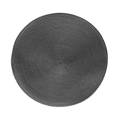 Tischsets Platzsets MARRAKESCH RUND im 4er-Set, Ø 38 cm, abwischbar, Taupe