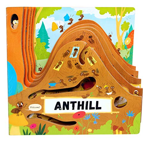 Anthill (Happy Fox Books) One-of-a-Kind Board Book Teaches Kids Ages 2–5 about Ants  Digging More Deeply into an Anthill with Every Turn of the Page  Fun Facts  Vocabulary Words  & More