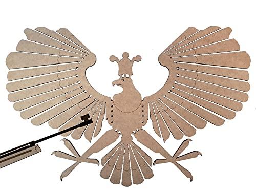 MomoMoments Schützenvogel, Schützenadler, Vogelschießen, Zielscheibe Luftgewehr, Schützenfest, Holzvogel, Made in Germany
