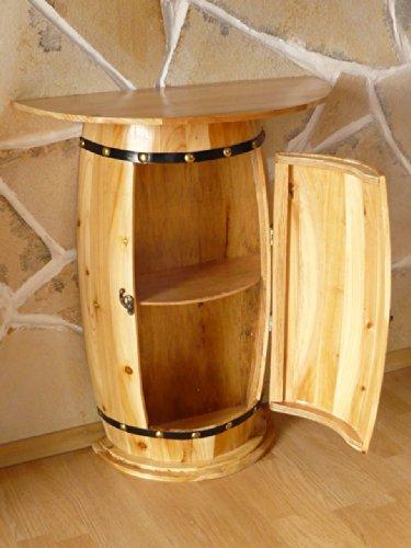 DanDiBo Wandtisch Tisch Weinfass 0373 Schrank Weinregal Fass aus Holz - 4