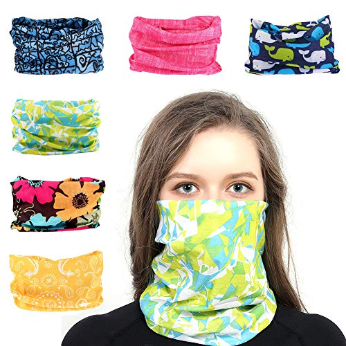 Toes Home Outdoor Magic Headband Elastic Seamless Bandana Scarf UV Resistence Sport Headwear Boho Series for Yoga Hiking Riding Motorcycling