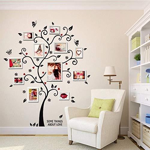 FNMYH 3D DIY DIY Photo Tree PVC Pegatinas de Pared Mural Arte Decoración para el hogar para el hogar, etc.