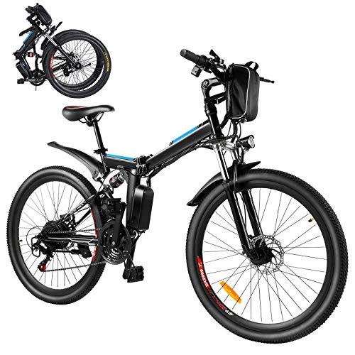 BiciElettricheE-bike26  MountainEbikePieghevole250WBiciElettricaperAdulticonBatteriaRimovibile8Ah,professionale21velocità,CityBikeperUominieDonne