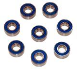 Traxxas Ball Bearings, Blue Rubber Sealed (5x11x4mm) - Set of Eight - TRA5116