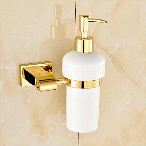 JXXDDQ De Estilo Europeo Jabón Cobre Oro Botella baño dispensador de jabón desinfectante de la Mano
