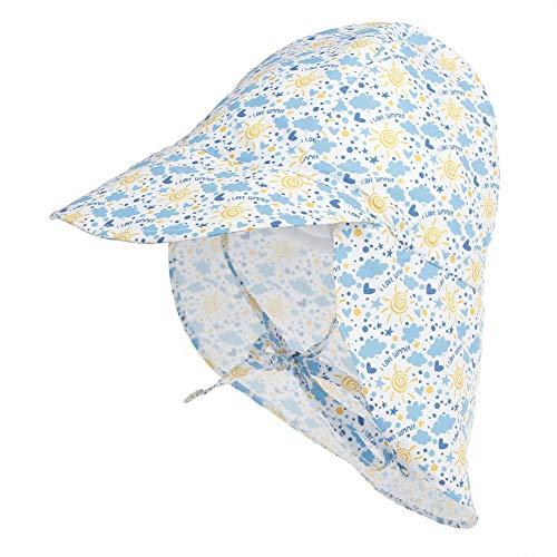 auvstar Baby Schirmmütze Sonnenhut mit, Kinderhut UPF 50+ UV-Schutz, mit Nackenschutz, einstellbare Größe, für das Schwimmen im Freien, Reisen, Beach Play, Summer Must. (So, 48-54cm)