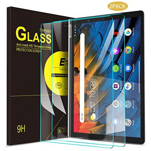 ELTD Displayschutzfür Lenovo Yoga Smart Tab, Rounded Corners 2.5D, 9H Härte, gehärtetes Displayfolie Schutzglas für Lenovo Yoga Smart Tab 10,1 Zoll 2019 (2 Stück)