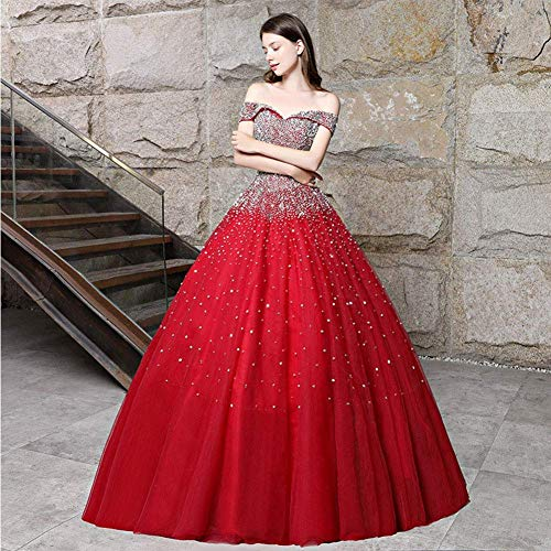 FTFTO Wohnaccessoires Stilvolle Einfachheit Damen Satin Kimono Robe Lange Robe Kurze Satin Kimono Brautkleid mit V-Ausschnitt und Gürtel Nachtwäsche für Party Red_XxxlRed Medium