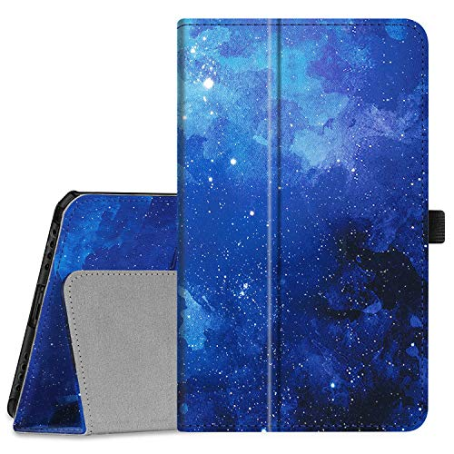Fintie Folio Case for Samsung Galaxy Tab A 8.0 2019 Without S Pen Model (SM-T290 Wi-Fi, SM-T295 LTE), [Corner Protection] Slim Fit Premium Vegan Leather Stand Cover, Starry Sky