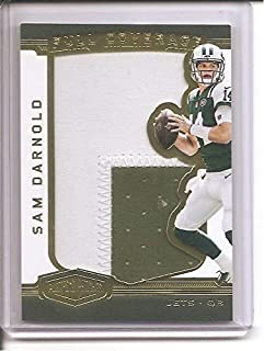 Sam Darnold New York Jets 2018 Panini Plates and Patches 2-Color Jumbo Jersey Memorabilia Rookie Football Card #24/85