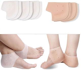 Kapmore-hielspoor bandage van silicone, 5 paar hielsokken hielwrap verstelbare ademende plantaire fasciitis wrap hielbesch...