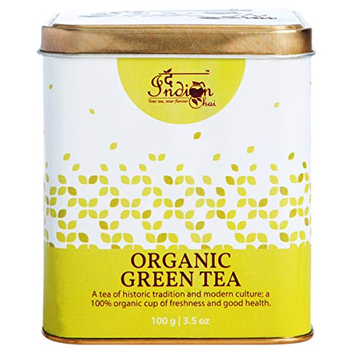 The Indian Chai – Organic Green Tea 100g for Detox, Weight Loss, Slimming and Fat Burn Teatox