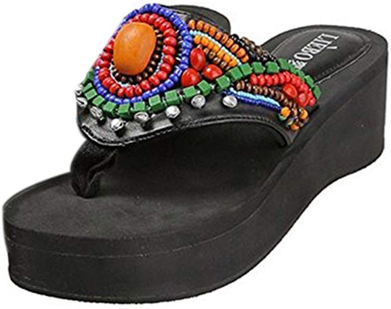 RONGZHAN Beads Sandals Slippers Flip Flops