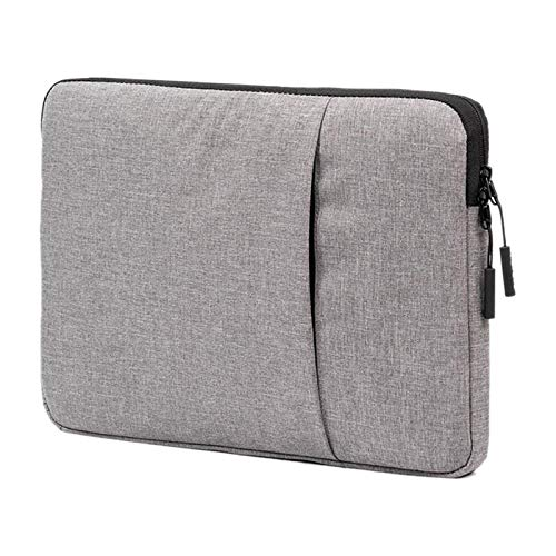Laptop Bag, 14-15.4 inch Portable Business Water-repellent Polyester Suit Fabric Laptop Inner Package Bag, Portable Notebook Computer Carrying Case Bag (Color : Grey)