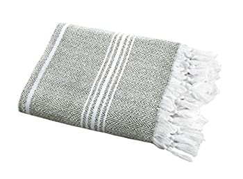 Organic, Super-Soft, Turkish Peshtemal Fouta Towel  Throw Blanket