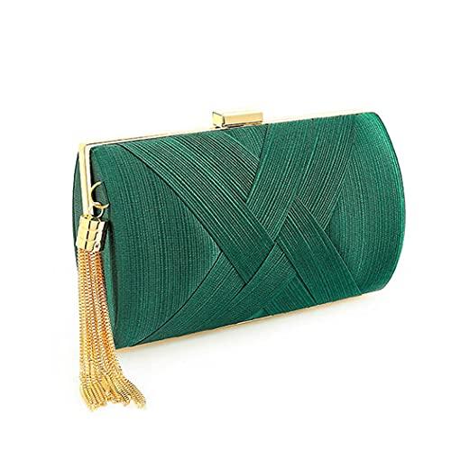 Bohend Moda Bolso de mano Borlas Bolso Uso diario de clubes de fiesta de bodas Bolsos de mano para mujer (Verde)