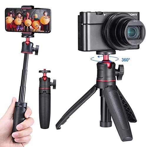 Guedieo Palo selfie mini para iPhone, cámara con mango extensible Vlg para Sony RX100 VII M1-M6 A6400 A6500 Canon G7X Mark III