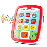 kidpal Baby Toys for Age 1 2 Years Old Toddler, Learning Toys with Music and Light for 6 12 24 Months, My First Learning Tablet Educational Toy, Animals, Number and Color Cognative Learning