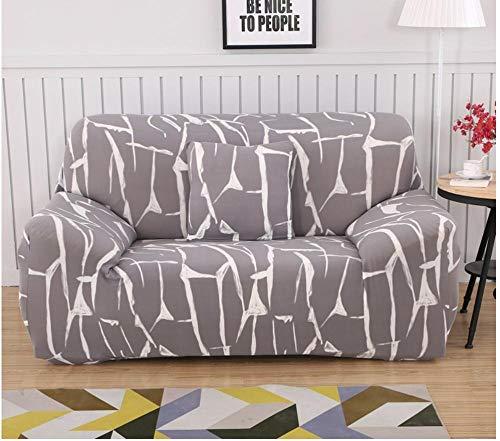 ACVMF Funda de sofá 1 2 3 4 plazas Universal elástico Cuatro Estaciones Cubierta Antideslizante en Tejido elástico Extensible Protector de sofá para Sala de Estar Dormitorio Gris 3 plazas: 190-230 cm