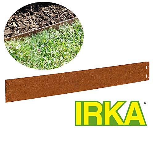IRKA 10x Rasenkante Corten Stahl schmal 14 cm Mähkante Beeteinfassung Metall 1 mm