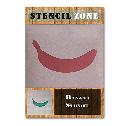 Bananen-Frucht-Nahrung Mylar Airbrush Malerei Wand-Kunst-Handwerk-Schablone einer (A6 Größe Stencil - XXSmall)