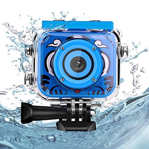 welltop Kinder Underwater Kamera, 1080P HD Digitale Foto- / Videokameras Unterwasser-Actionkamera Wiederaufladbare Action Kamera Unterwasservideokamera wasserdichte Kamera Geburtstagsgeschenk