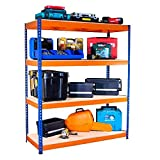 Racking Solutions - Estantería/Estante del garaje/Sistema de almacenamiento de acero, cargas pesadas, capacidad de carga total 1600kg (4 niveles 1800mm Al x 1500mm An x 600mm Pr) + Envío gratis