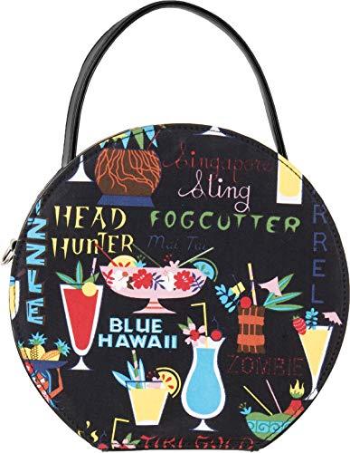 Küstenluder Damen Tasche Lieke Tropical Hawaii Tiki Handbag Schwarz