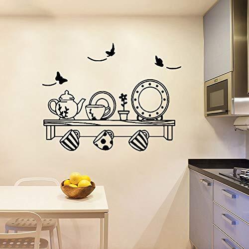 JXMN Vajilla clásica Pegatinas de Pared Pegatinas de Arte de Pared decoración del hogar habitación de los niños decoración del hogar 86x110cm