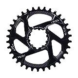 Nicole Knupfer Fahrradkettenring 32/34/36/38T BCD 104 Mountainbike Acero Singular Kurbel Kettenblatt Reparación piezas para Outdoor Radfahren, color Negro , tamaño 38T