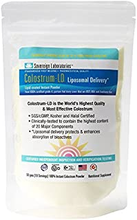 Enhanced Absorption Liposomal Colostrum Powder - Proprietary Colostrum-LD Tech Provides up to 1500% More Bio-Availability Over Regular Colostrum - 50 Grams Travel/Trial by Sovereign Laboratories …