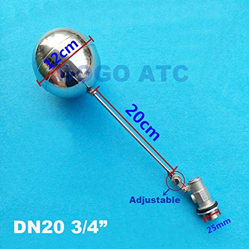 Color: Straight Type, Specification: 1//2 Ochoos High Temperature Water Level Controller DN15 DN20 Cold and Hot Water Tank Float Valve 1//2 3//4 Stainless Steel Toilet Valve