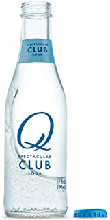 Q Mixers Club Soda, Premium Cocktail Mixer, 6.7 oz (24 Bottles)
