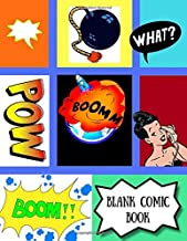 BLANK COMIC BOOK: Create Your Own Comics With This Comic Book Journal Notebook (Large Print 8.5