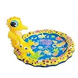 Splash Pad, Sprinkler Play Matte Wasserspielzeug Garten Wasserspielmatte 37.7' Splash Pad Sprinkler Kinder Play Matte Kinder Baby Pool Pad Spielmatte Sommer Outdoor Spielzeug